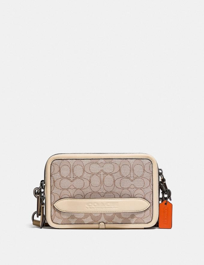 Coach Charter Crossbody in Signature Jacquard Stone/Ivory null