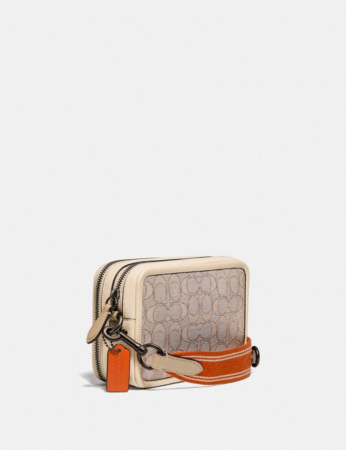 Coach Charter Crossbody in Signature Jacquard Stone/Ivory New Men's New Arrivals Accessories Alternate View 1