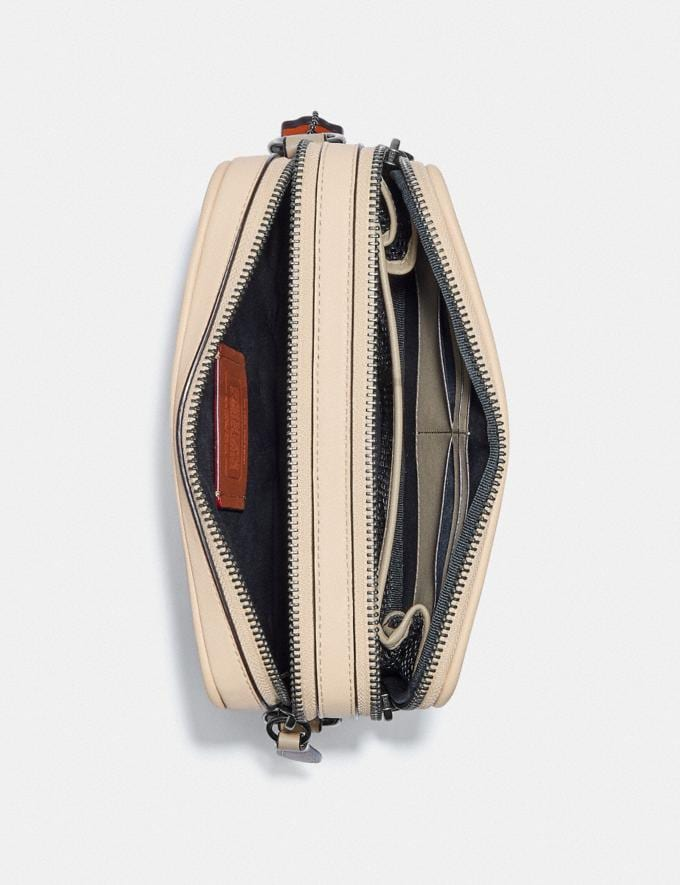 Coach Charter Crossbody in Signature Jacquard Stone/Ivory New Men's New Arrivals Accessories Alternate View 2