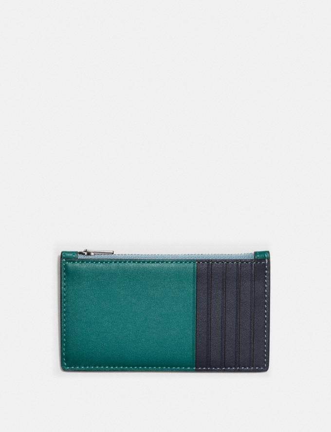 Coach Zip Card Case in Colorblock Ocean/Midnight Navy null Alternate View 1