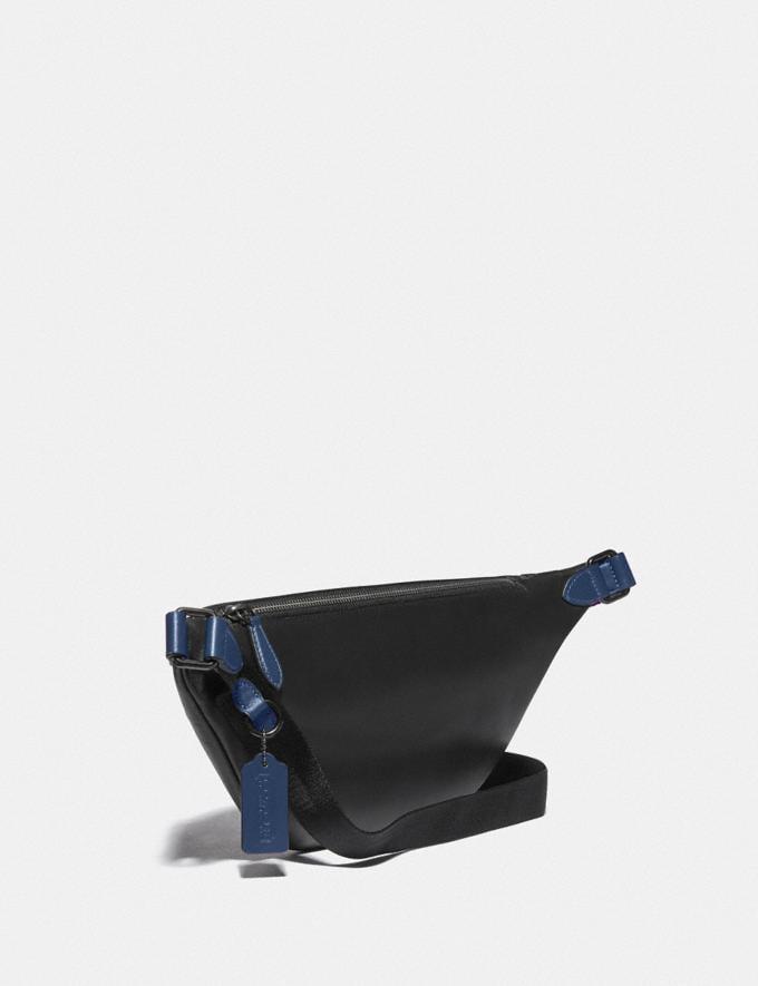 Coach League Belt Bag in Signature Jacquard Black Copper/Charcoal/Black null Alternate View 1