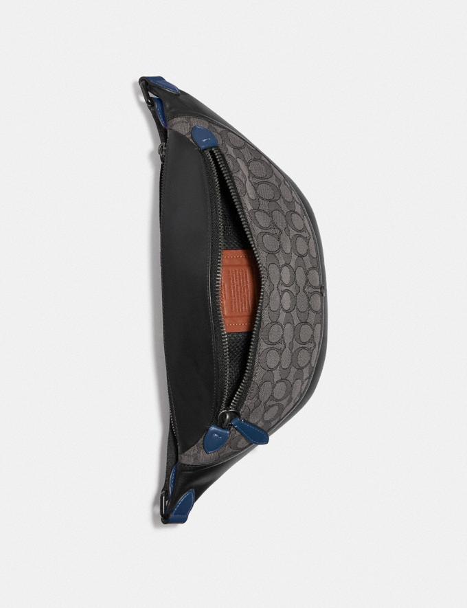 Coach League Belt Bag in Signature Jacquard Black Copper/Charcoal/Black New Men's New Arrivals Bags Alternate View 2