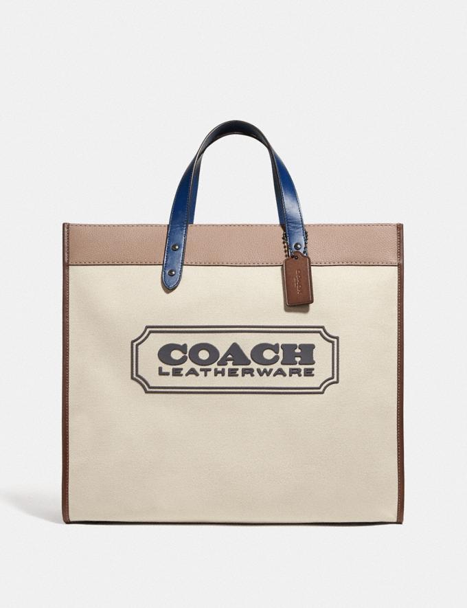 Coach Field Tote 40 With Coach Badge Ji/Natural Multi null