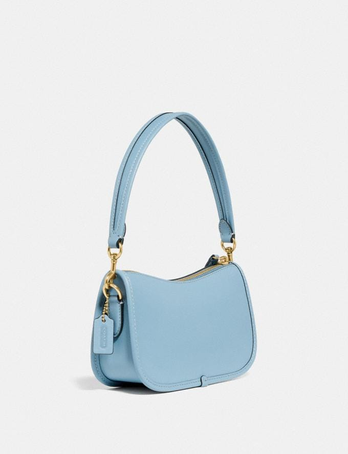 Coach Swinger 20 With Floral Embroidery Brass/Azure null Alternate View 1