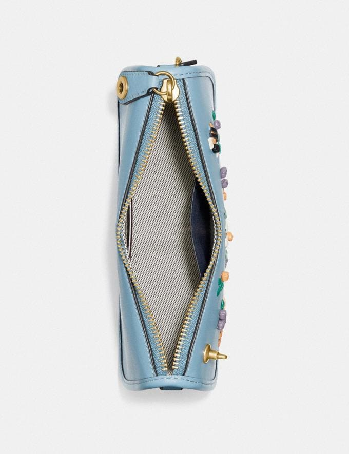 Coach Swinger 20 With Floral Embroidery Brass/Azure null Alternate View 2