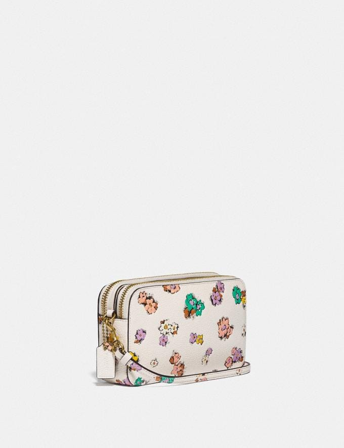 Coach Kira Crossbody With Floral Print Brass/Chalk null Alternate View 1