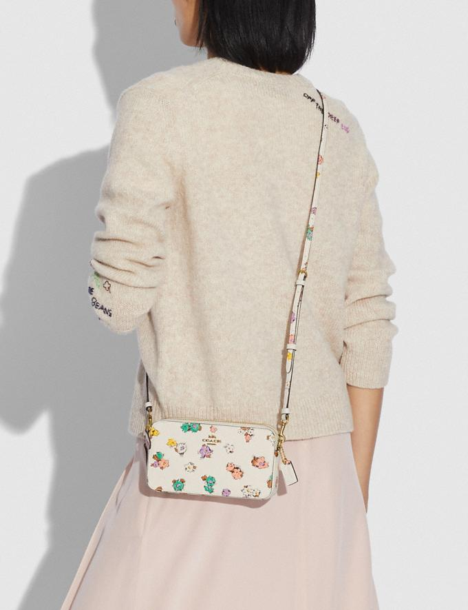 Coach Kira Crossbody With Floral Print Brass/Chalk null Alternate View 3