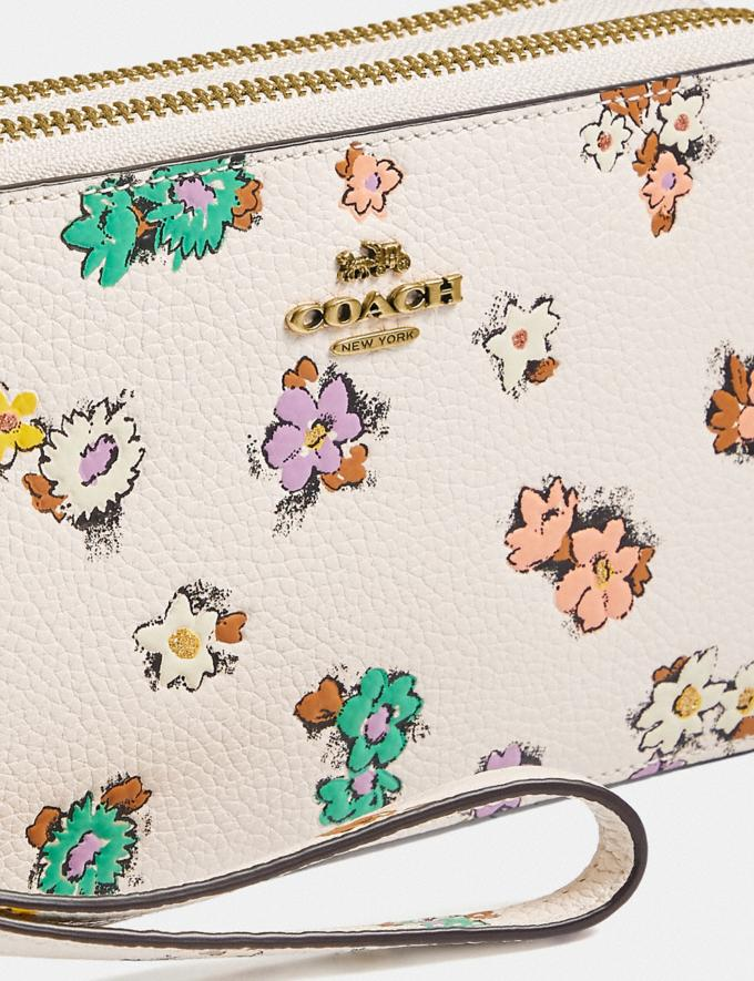 Coach Kira Crossbody With Floral Print Brass/Chalk null Alternate View 4