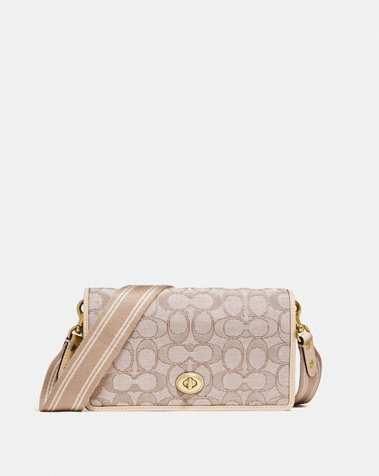HAYDEN FOLDOVER CROSSBODY CLUTCH IN SIGNATURE JACQUARD