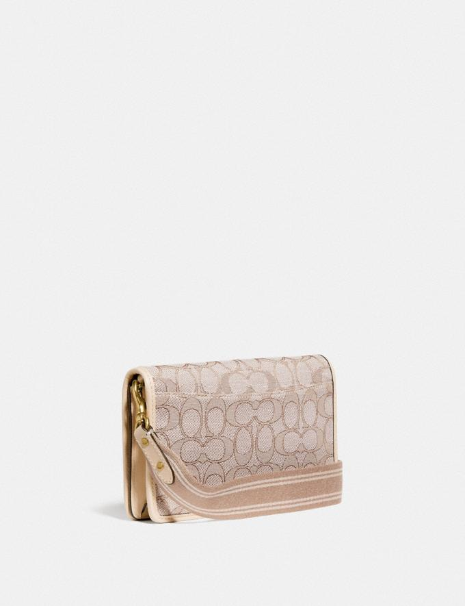 Coach Hayden Foldover Crossbody Clutch in Signature Jacquard Brass/Stone Ivory null Alternate View 1