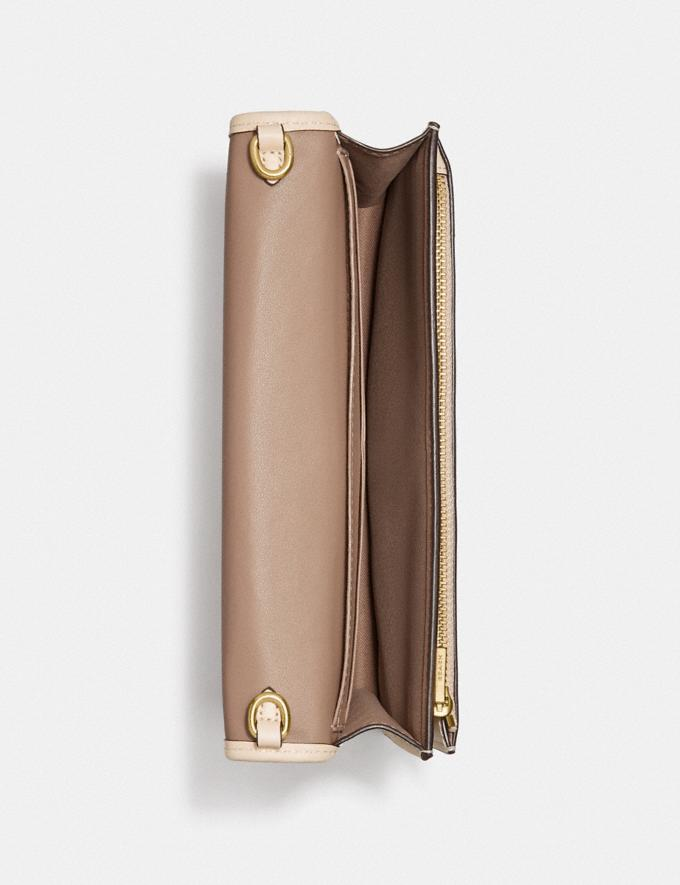 Coach Hayden Foldover Crossbody Clutch in Signature Jacquard Brass/Stone Ivory null Alternate View 3