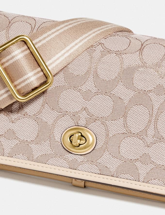 Coach Hayden Foldover Crossbody Clutch in Signature Jacquard Brass/Stone Ivory null Alternate View 4