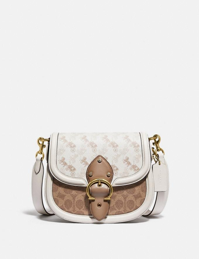 Coach Beat Saddle Bag With Horse and Carriage Print Brass/Chalk Tan Chalk New Women's New Arrivals Bags