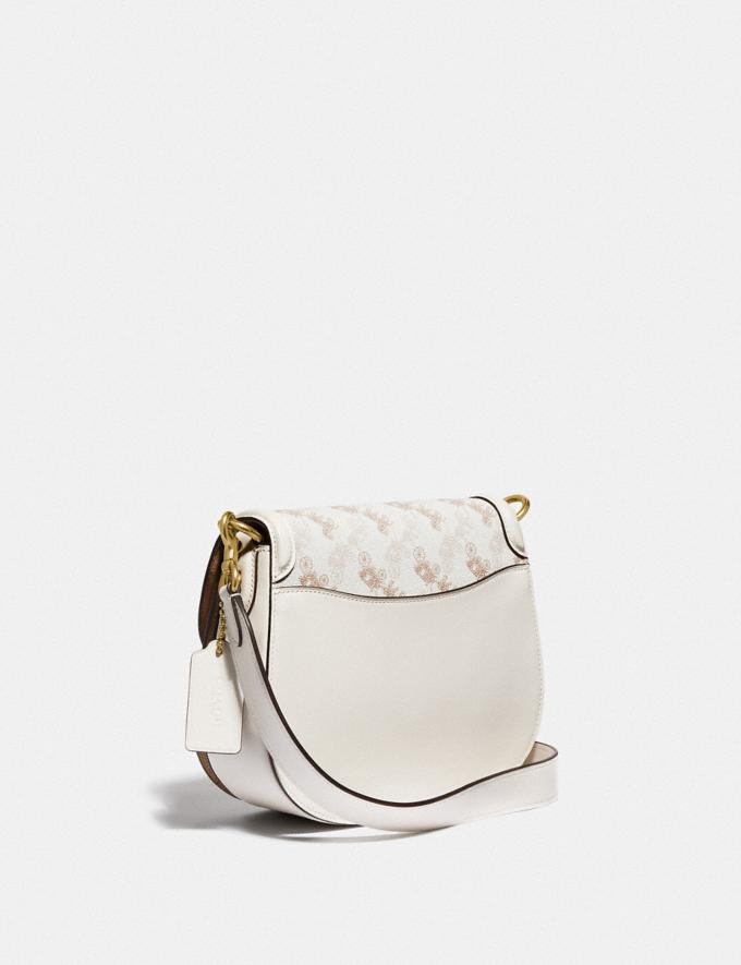 Coach Beat Saddle Bag With Horse and Carriage Print Brass/Chalk Tan Chalk New Women's New Arrivals Bags Alternate View 1