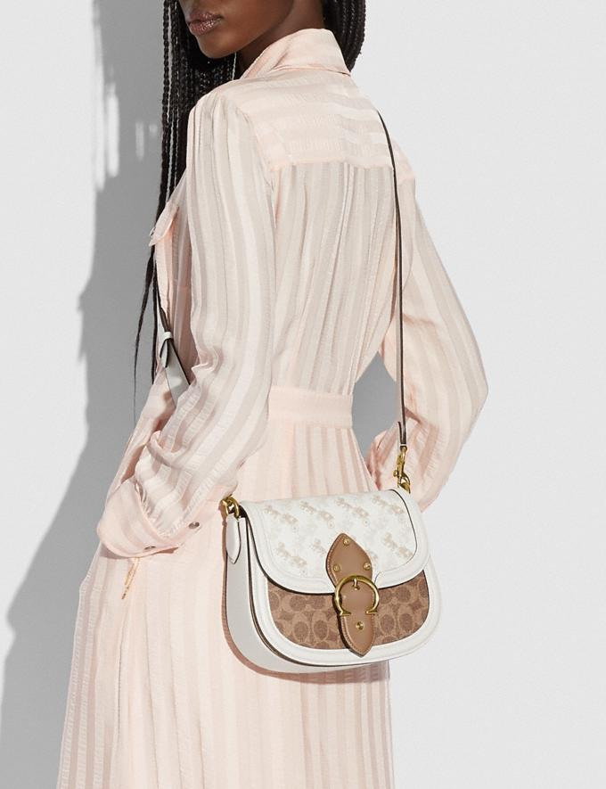 Coach Beat Saddle Bag With Horse and Carriage Print Brass/Chalk Tan Chalk New Women's New Arrivals Bags Alternate View 4