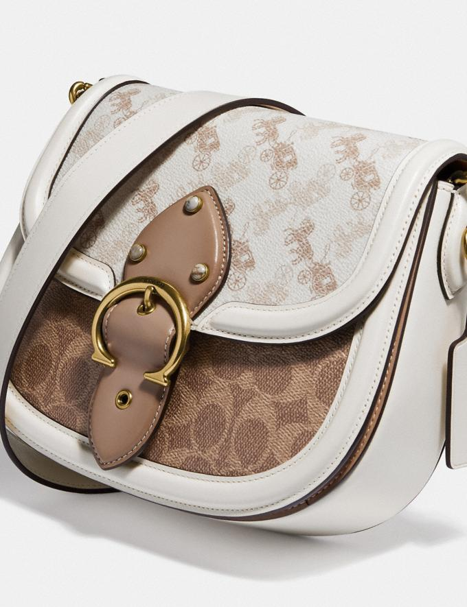 Coach Beat Saddle Bag With Horse and Carriage Print Brass/Chalk Tan Chalk New Women's New Arrivals Bags Alternate View 5