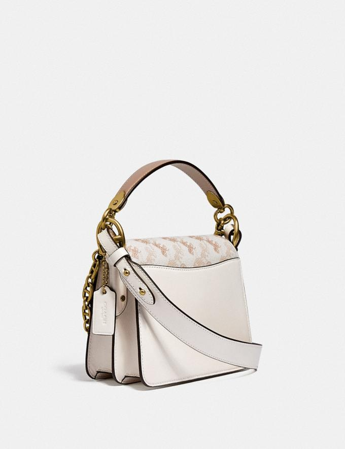Coach Beat Shoulder Bag 18 With Horse and Carriage Print Brass/Chalk Tan Taupe Multi New Women's New Arrivals Bags Alternate View 1