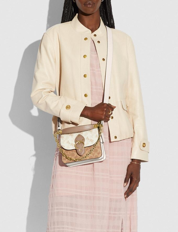 Coach Beat Shoulder Bag 18 With Horse and Carriage Print Brass/Chalk Tan Taupe Multi New Women's New Arrivals Bags Alternate View 3