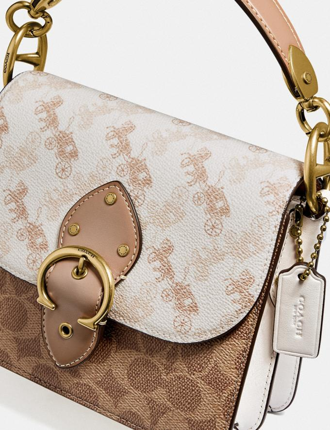 Coach Beat Shoulder Bag 18 With Horse and Carriage Print Brass/Chalk Tan Taupe Multi New Women's New Arrivals Bags Alternate View 5