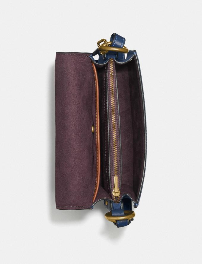 Coach Beat Shoulder Bag 18 Brass/Deep Blue New Women's New Arrivals Bags Alternate View 3