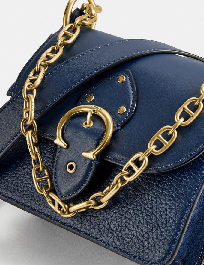 Coach Beat Shoulder Bag 18 Brass/Deep Blue null Alternate View 6