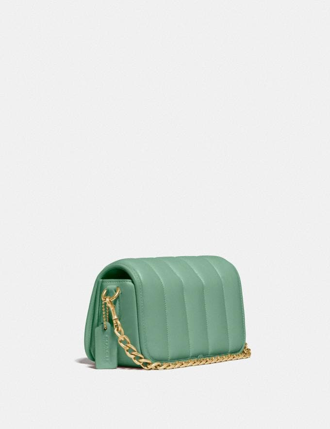 Coach Dinky 18 With Quilting Brass/Washed Green New Women's New Arrivals Bags Alternate View 1