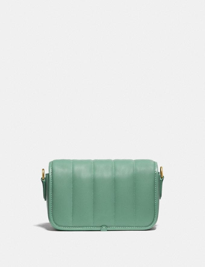 Coach Dinky 18 With Quilting Brass/Washed Green New Women's New Arrivals Bags Alternate View 2