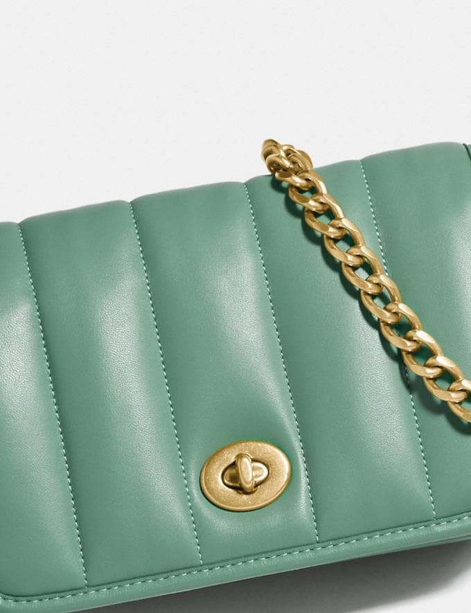 Coach Dinky 18 With Quilting Brass/Washed Green New Women's New Arrivals Bags Alternate View 5