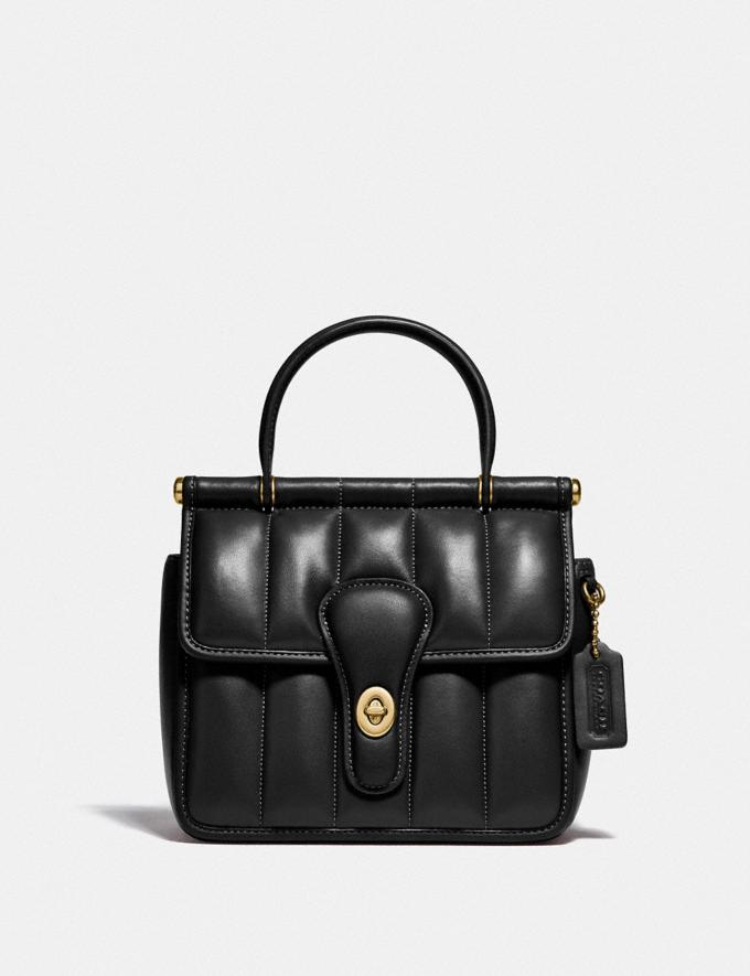 Coach Willis Top Handle 18 With Quilting Brass/Black New Women's New Arrivals Bags
