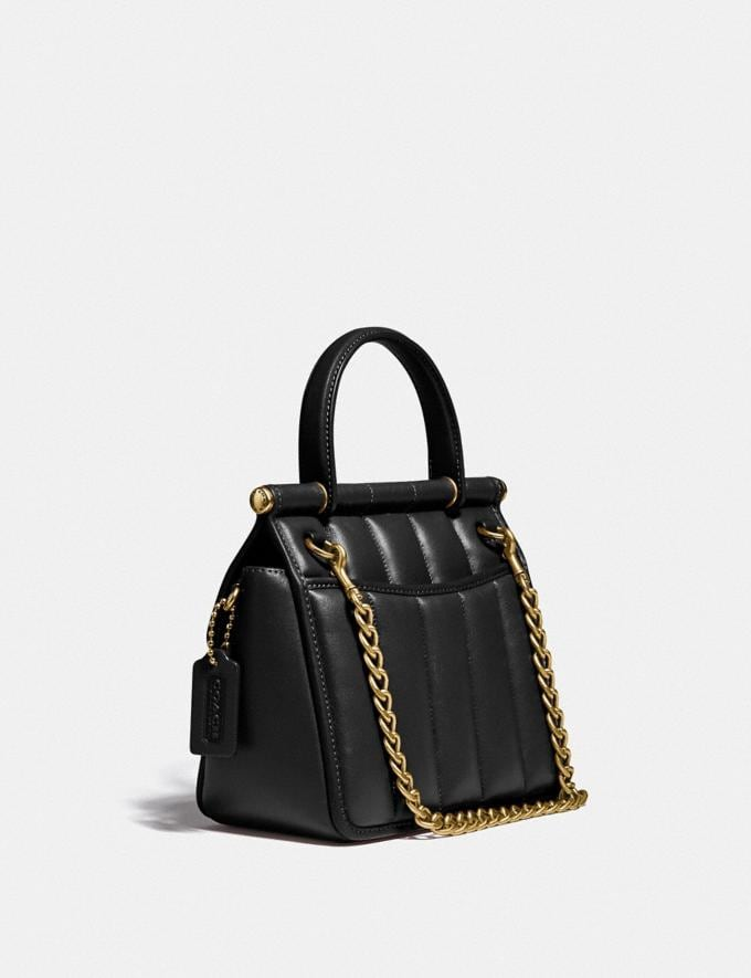 Coach Willis Top Handle 18 With Quilting Brass/Black New Women's New Arrivals Bags Alternate View 1