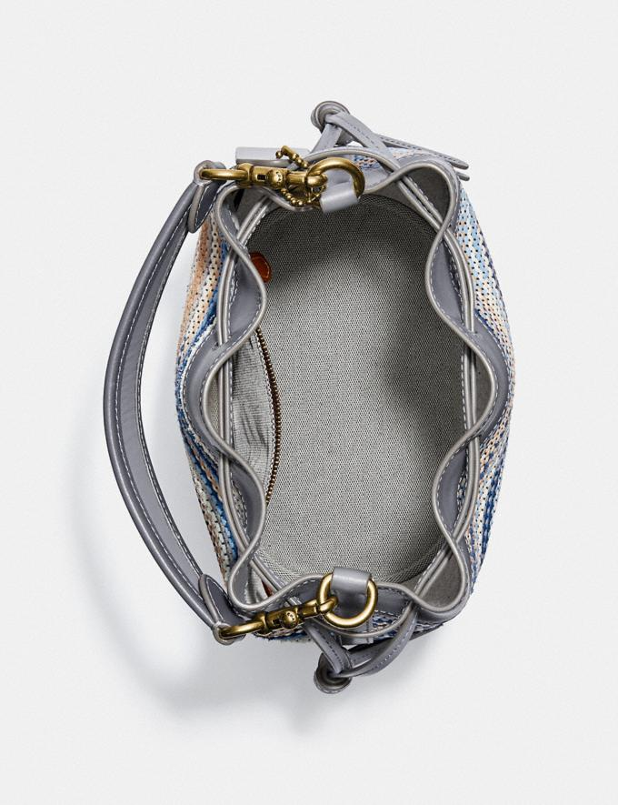 Coach Field Beuteltasche Aus Upwoven-Leder B4/Granit Multi Neu Neuheiten für Damen Taschen Alternative Ansicht 2