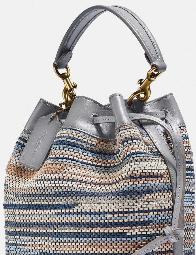 Coach Field Beuteltasche Aus Upwoven-Leder B4/Granit Multi Neu Neuheiten für Damen Taschen Alternative Ansicht 4