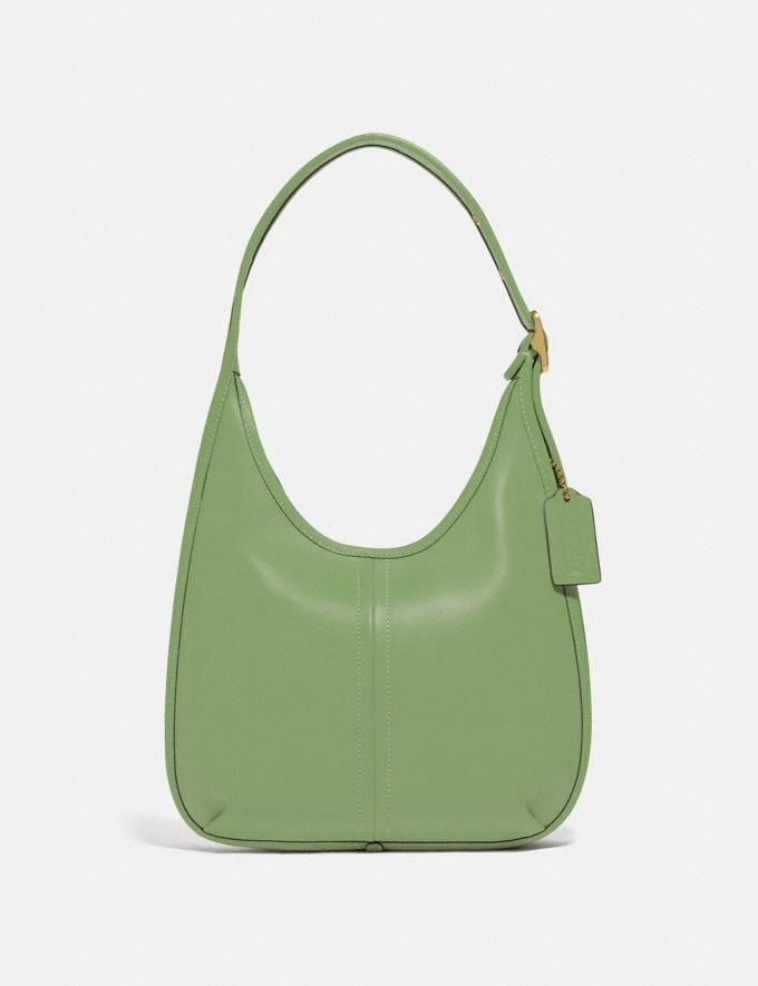 Coach Ergo Shoulder Bag in Original Natural Leather Brass/Plant Green New Featured Coach Forever