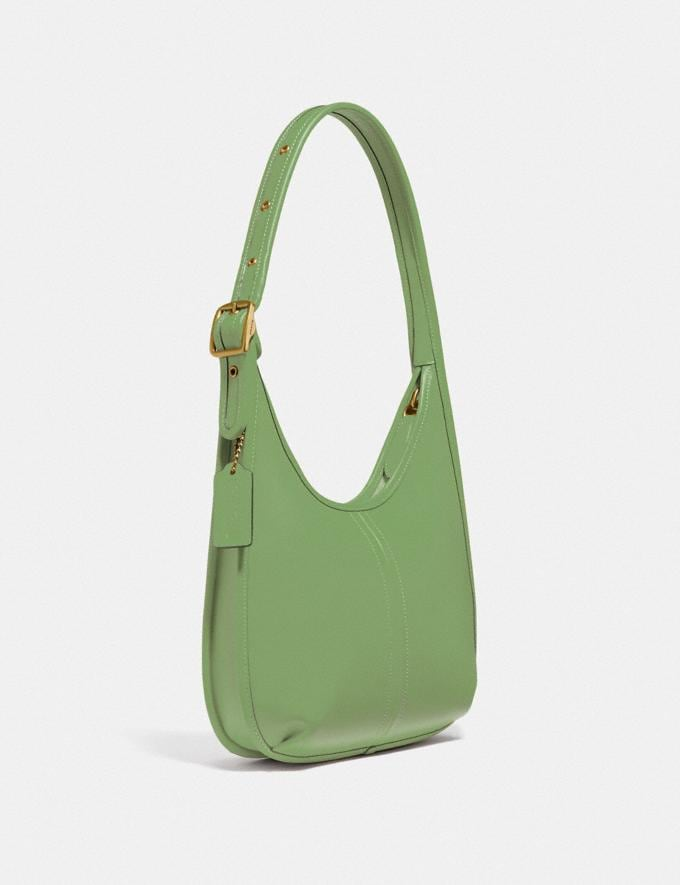Coach Ergo Shoulder Bag in Original Natural Leather Brass/Plant Green New Featured Coach Forever Alternate View 1