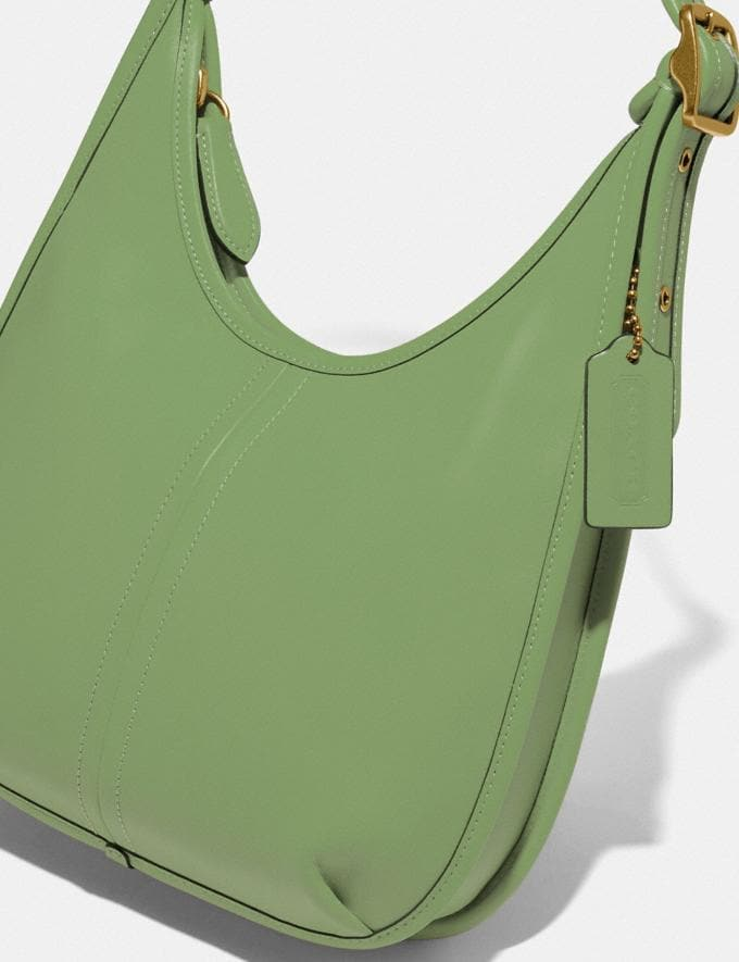 Coach Ergo Shoulder Bag in Original Natural Leather Brass/Plant Green New Featured Coach Forever Alternate View 4