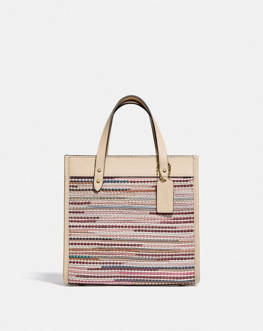FIELD TOTE 22 IN UPWOVEN LEATHER