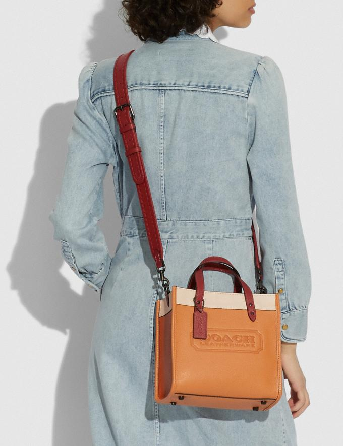 Coach Field Tote 22 in Colorblock With Coach Badge and Whipstitch V5/Natural Multi New Women's New Arrivals Bags Alternate View 3