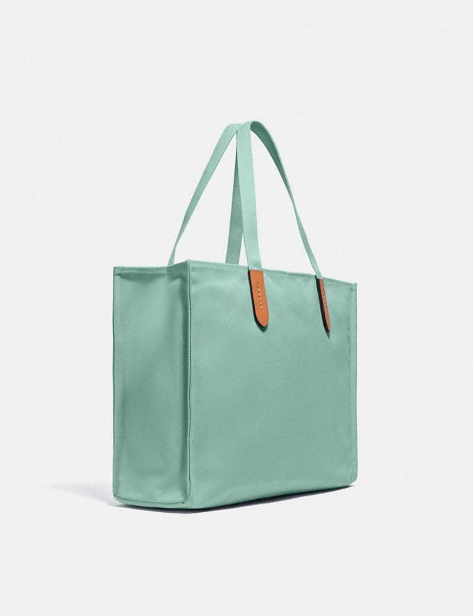 Coach 100 Percent Recycled Tote 42 Brass/Iceberg Green  Alternate View 1