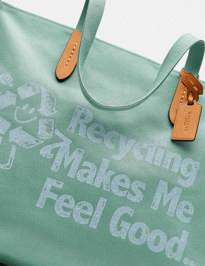 Coach 100 Percent Recycled Tote 42 Brass/Iceberg Green  Alternate View 4