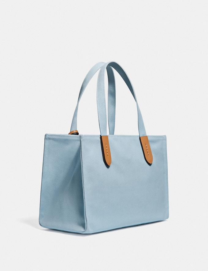 Coach 100 Percent Recycled Tote 30 B4/Celestial Blue  Alternate View 1