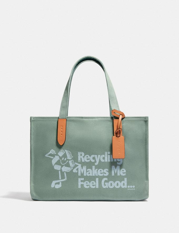 Coach 100 Percent Recycled Tote 30 B4/Iceberg Green