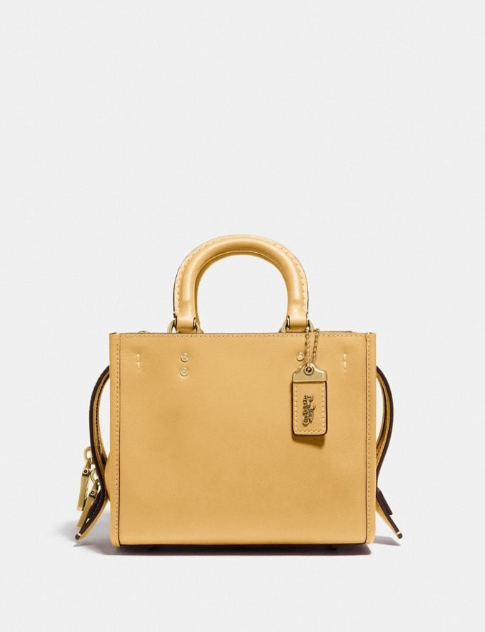 Coach Rogue 17 in Original Natural Leather B4/Turmeric Root
