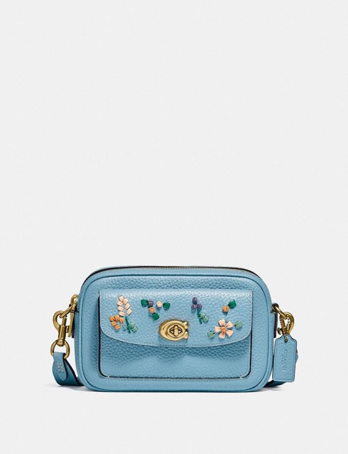 Coach Willow Camera Bag With Floral Embroidery B4/Azure null