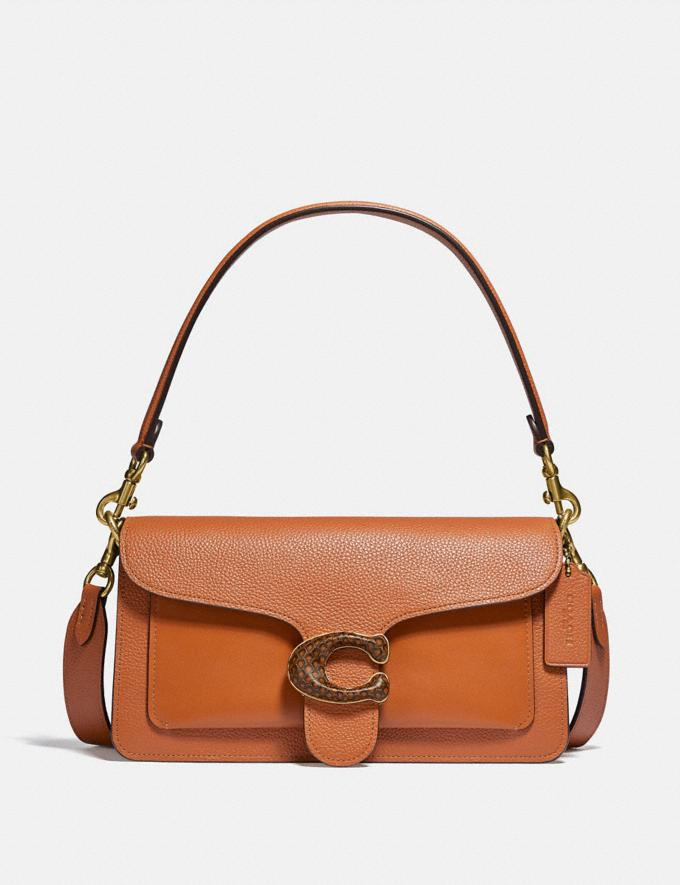 Coach Tabby Shoulder Bag 26 With Snakeskin Detail Brass/Hazelnut New Women's New Arrivals Bags