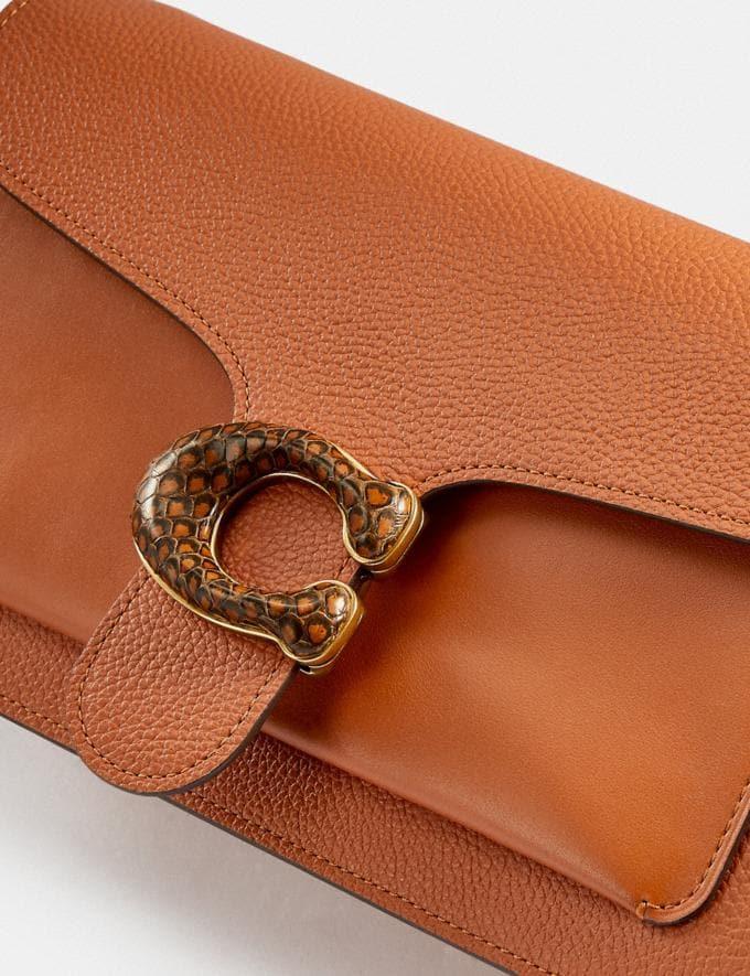 Coach Tabby Shoulder Bag 26 With Snakeskin Detail Brass/Hazelnut New Women's New Arrivals Bags Alternate View 4