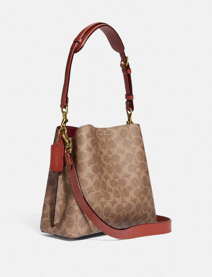 Coach Willow Bucket Bag in Signature Canvas Brass/Tan Rust New Women's New Arrivals Bags Alternate View 1