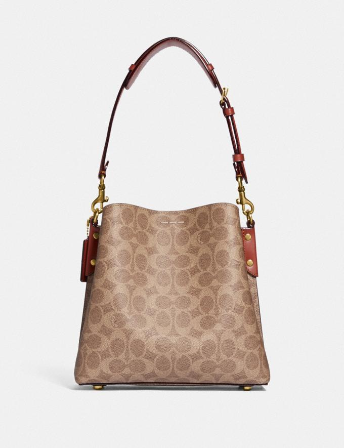 Coach Willow Bucket Bag in Signature Canvas Brass/Tan Rust New Women's New Arrivals Bags Alternate View 2