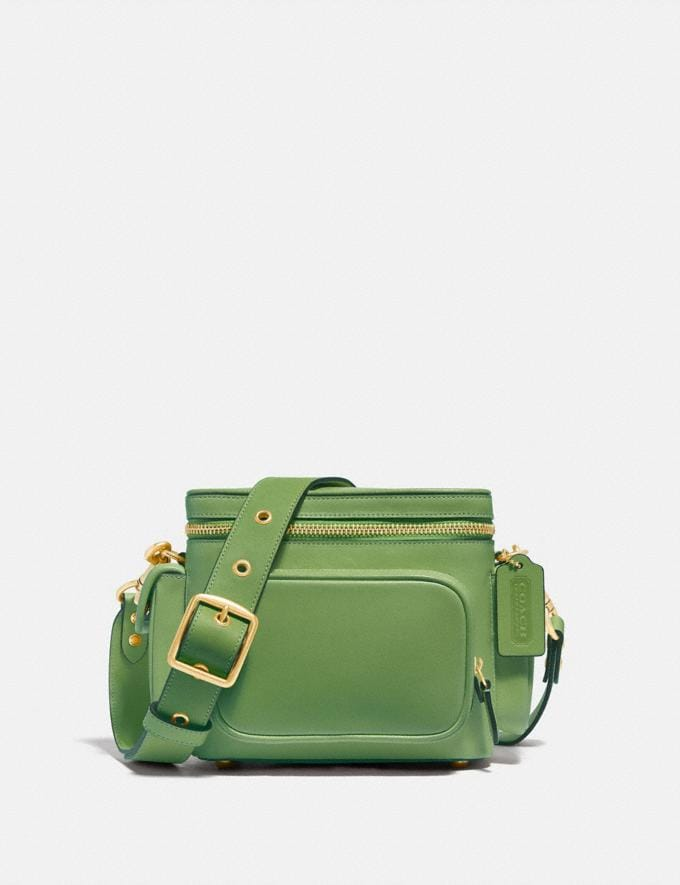 Coach Utility Crossbody 18 in Original Natural Leather Plant Green