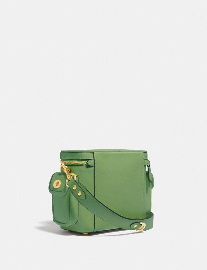 Coach Utility Crossbody 18 in Original Natural Leather Plant Green  Alternate View 1