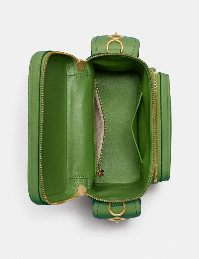 Coach Utility Crossbody 18 in Original Natural Leather Plant Green  Alternate View 2